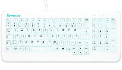 Kabelgebundene Hygienetastatur; Schreibgefühl besser als Glastastatur