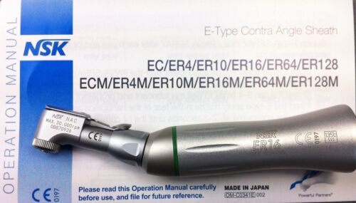 NSK Endodontic ER16 Handpiece Contra-angle Latch Type 16:1 Reduction E-Type
