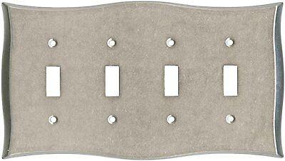 Nickel Quad Switch Plate Brainerd 144042 Lylah