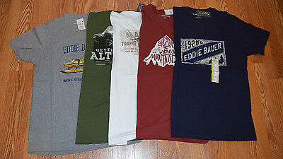 Nwt Mens Eddie Bauer Green Blue Blue White Red Graphic T Shirt M L Xl Xxl