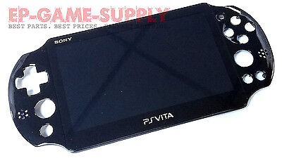 Front LCD Screen Display Touch Digitizer Housing for PS Vita Slim PCH-2001 Black