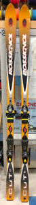 Used Rossignol Dualted Cut 183 cm Downhill Skis With Bindings
