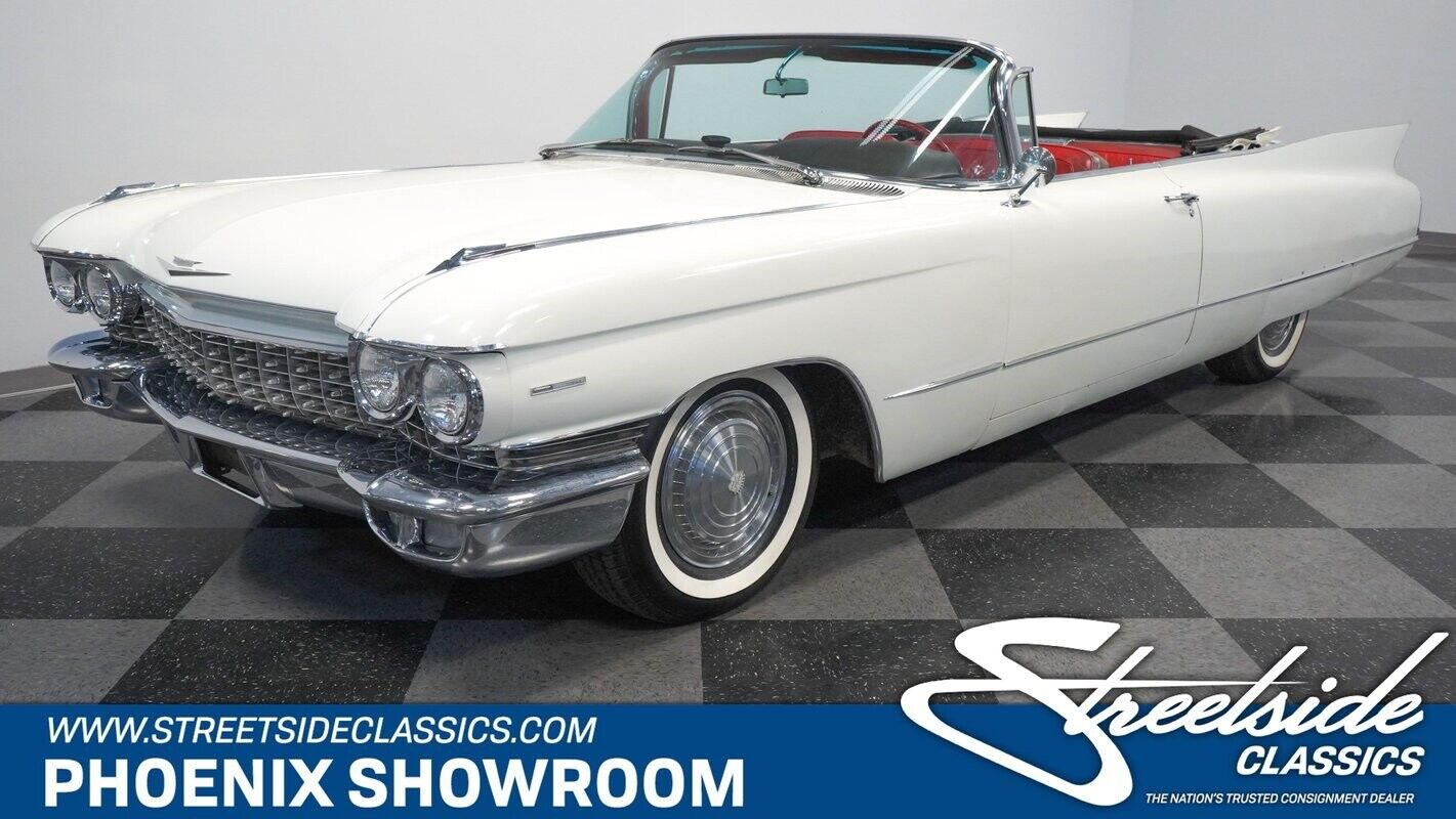 V8 Auto Classic Vintage Collector White Red Droptop Original Caddy Factory