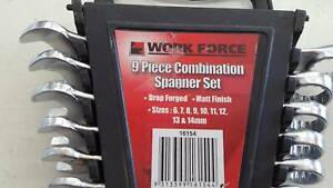 Work Zone 9 Piece Spanner Combination set Macquarie Fields Campbelltown Area Preview