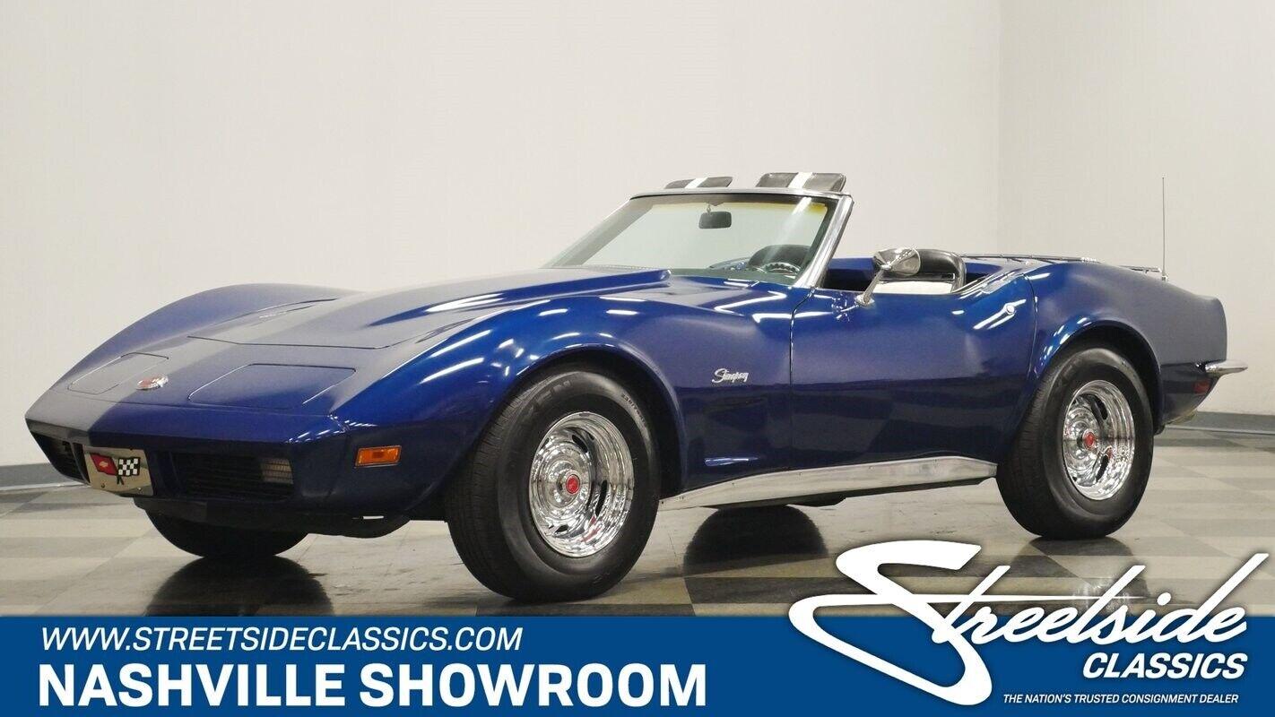 1973 Blue Chevrolet Corvette Convertible    C3 Corvette Photo 1