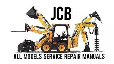 Best Jcb All Skid Steer Backhoe Loader Excavator Shop Service Repair Manual Cd