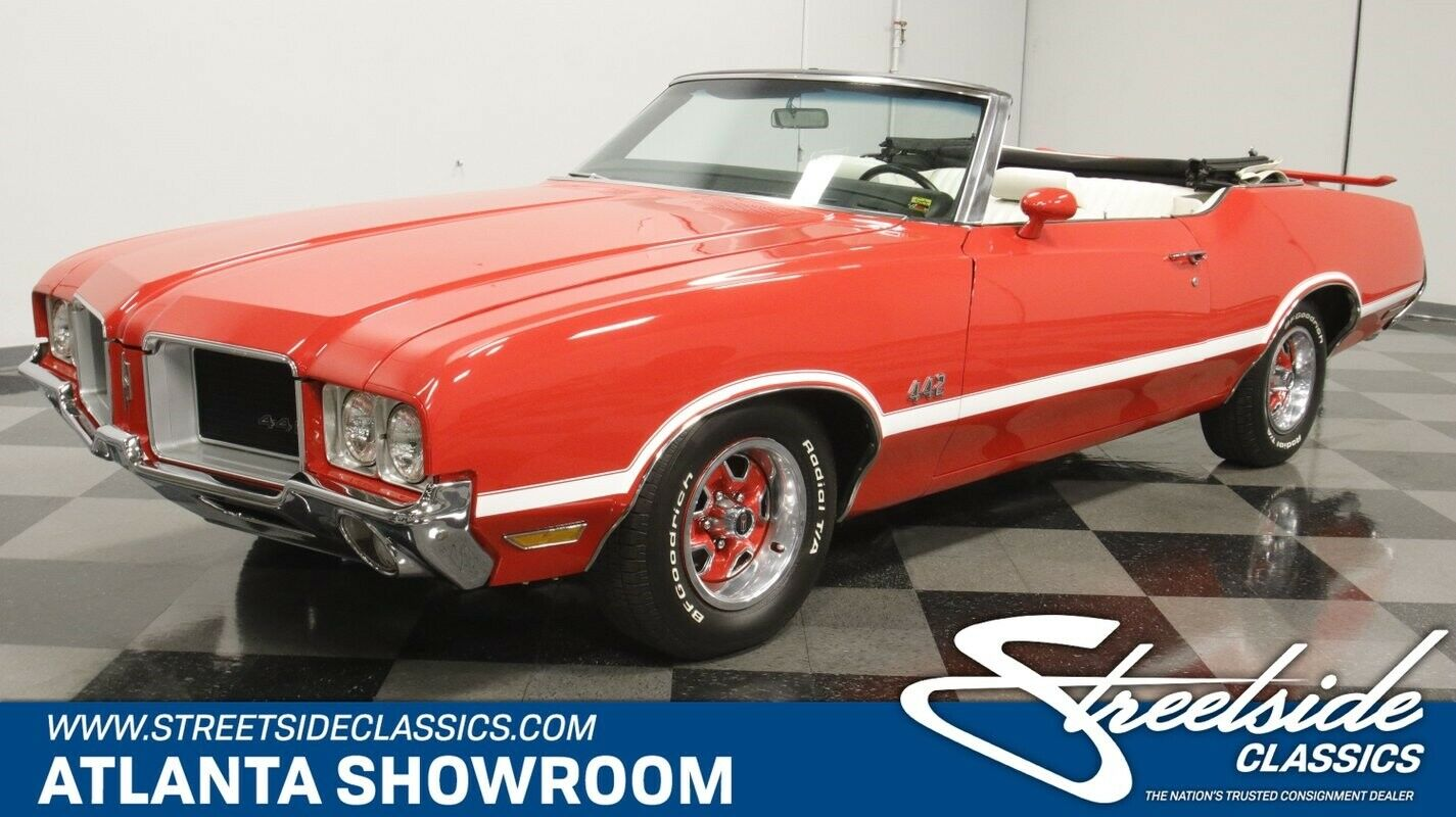 classic vintage chrome olds 442 tribute convertible 350 v8 red