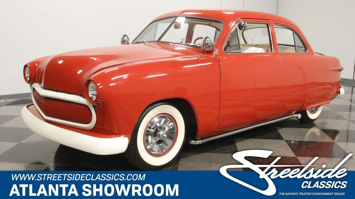 classic vintage chrome fomoco sedan 239 flathead v8 3-speed manual red