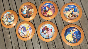 Beauty and The Beast Framed Plates 1-7 BRADFORD EXCHANGE Knowels