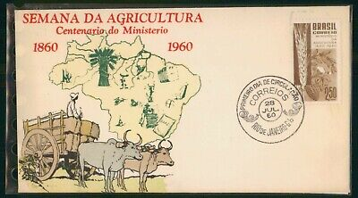 MayfairStamps Brazil 1960 Crops of Country Agriculture First Day Cover wwo49333