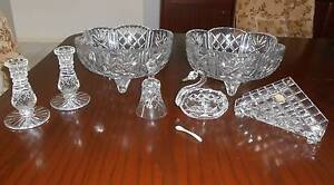 Vintage Crystal Bowls, Crystal Candle Stick Holders & Ornaments Arundel Gold Coast City Preview
