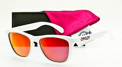 RARE OAKLEY FROGSKINS USA MADE 03-252 Polished White Ruby Iridium DISPLAY DEAL