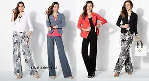 Iman Global Chic Luxury Resort Palazzo Pants Pick A Color Brand New