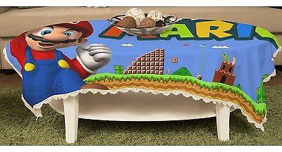 Super Mario Bros Mario Tischtuch Gartentischdecke Spitze Abwaschbar y43 w0085 ()