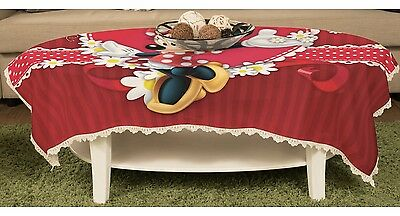 Minnie Mouse Tischtuch Gartentischdecke Spitze Abwaschbar y43 w0034