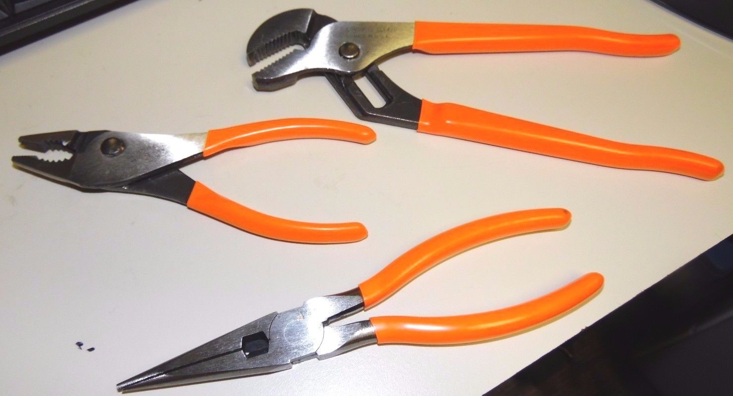 Lot Of 3 Cornwell Tools Ccl516 Pliers Ccl317 Needle Nose