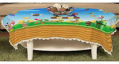 Super Mario Bros Tischtuch Gartentischdecke Spitze Abwaschbar y43 w0046 ()