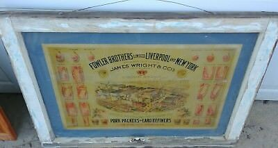 vintage union stockyard pork packers and lard refiners framed  advertisement