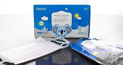 50 x Cherish Mundschutz Schutzmaske für Kinder 3-lagig Medizinisch TYP-I weiß