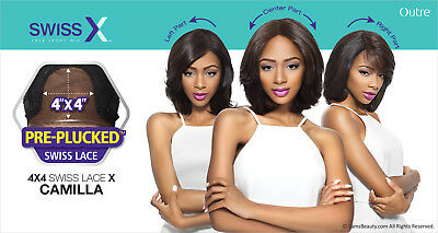 4x4 Base (4x4 MULTI PARTING LACE WIG, SWISS SILK BASE LACE NATURAL WAVY CURL (CAMILLA))
