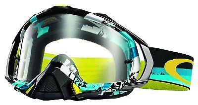 Oakley Men's Mayhem Pro Legacy MX Goggles - Blue Frame/Clear Lens (OO7051-04) - Mens Mx Pro Frame
