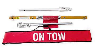 AA 2T CAR RECOVERY TOW POLE 2 TONNE BAR LIKE ROPE INC CARRY BAG & TOWING FLAG