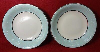 "CASTLETON china CORSAGE pattern Fruit Dessert Berry Bowl - Set of Two (2) 5-1/2"""