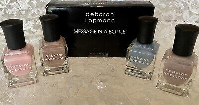 """DEBORAH LIPPMANN"" .27 FL OZ (4 MINI) MESSAGE IN THE BOTTLE NIB SEA COLORS"
