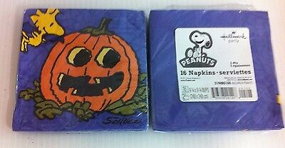 - PEANUTS THE GREAT PUMPKIN HALLOWEEN BEVERAGE NAPKINS - 2 - 16 count packages