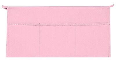 3 Pocket Waist Apron Pale Pink Waiter Waitress Bar Staff Craft Made In Usa New