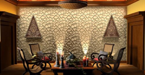 CRUST* 3D Decorative Wall Panels 1 pcs ABS Plastic mold for Plaster ...