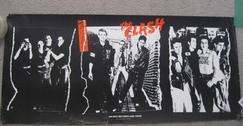The CLASH ORIG 1979 CBS US PROMO POSTER for 1st Album RARE punk