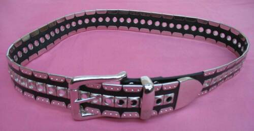 Le Serge Genuine Bonded Leather and Metal Belt, size 34
