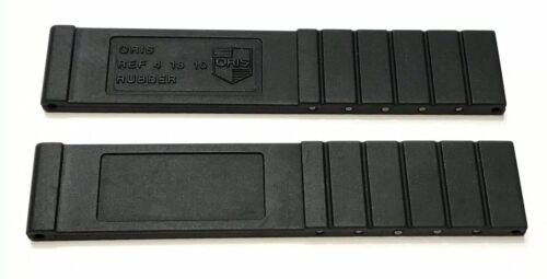 Oris Uhrenarmband Kautschuk Schwarz 18 mm
