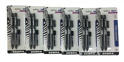 Zebra Mlp2 Carpenter Mechanical Pencil 2b 0.9mm Square Lead 6 Pack 12 Pencils