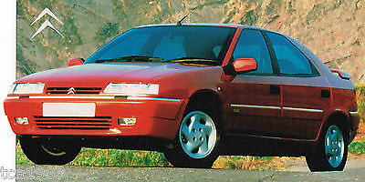 1997 / 1998 Citroen Xantia Activa Spec Sheet / Brochure / Pamphlet