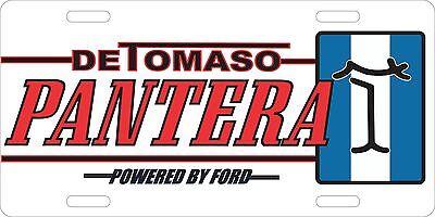 Detomaso Pantera Logo License Plate