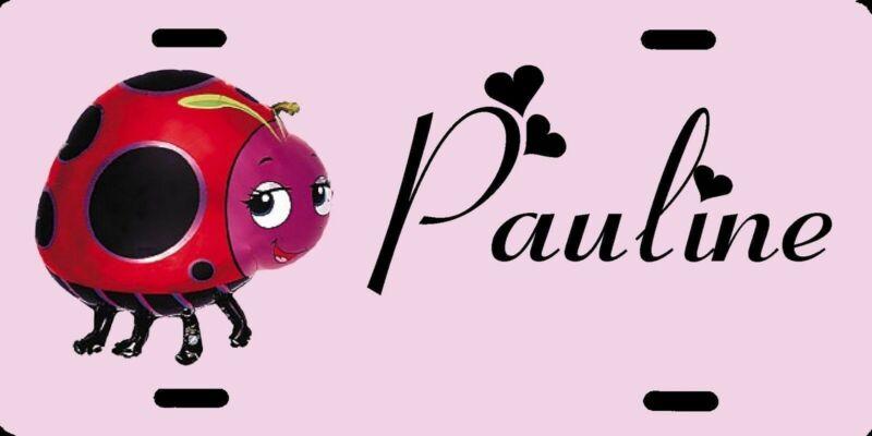 Personalized Custom Ladybug Lady Bug License Plate Add Name Initials Phrase etc.
