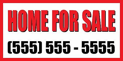 4'x8' Impress upon FOR SALE CUSTOM NUMBER Sign Vinyl Banner house condo apartment