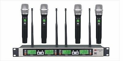 GTD 4x100 Channel UHF Wireless Handheld Microphone Mic System 500 Mhz Band B-33 , used for sale  Shipping to Nigeria