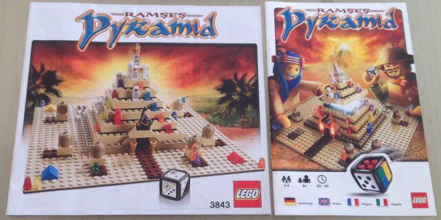 Lego 3843 Games Ramses Pyramid Bauanleitung und Spielanleitung in 4 Sprachen