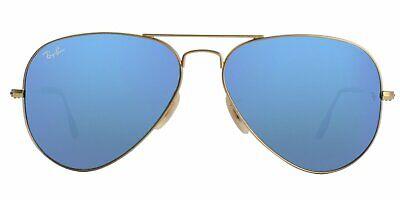 Ray-Ban Aviator Sunglasses 3025 112 17 Gold Frame/Blue Flash Mirror Lens 58mm