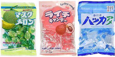 Kasugai Litchi   Melon   Peppermint Fruit Hard Candy From Japan   Us Seller