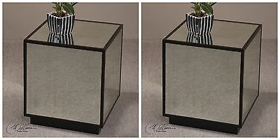 Mirror Cube Table - TWO NEW 16