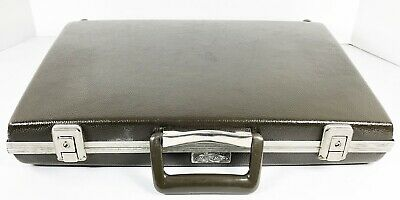Vintage Slim Thin Briefcase Attache Case Million Miler Mad Men Hard Shell