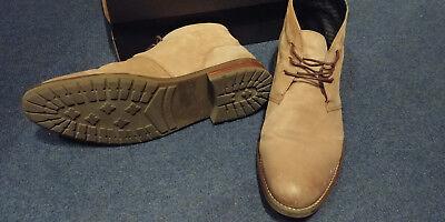 Tommy Hilfiger Herren Chukka Boots Stiefel Leder Größe 43 taupe (maulwurfsgrau)