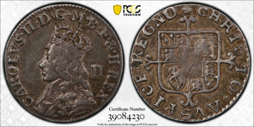 1662-85 Great Britain Two 2 Pence S-3387 PCGS VF-35 Charles II England