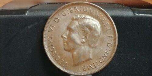 "1943 Australia 1 Penny KM# 36 ""George VI"" WWII Era Coinage - Bronze"