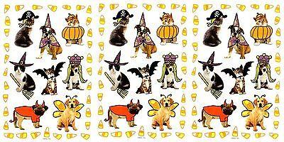 3 Sheets Halloween DOG CAT Pets Scrapbook dress up Costumes Fun Stickers