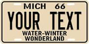 Michigan Porcelain License Plates